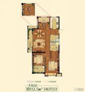 祥生悦山湖3室2厅2卫112平方米户型图