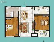 鸿泰・花漾城2室2厅1卫84平方米户型图