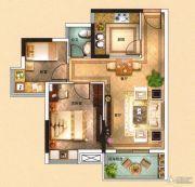海泉湾2室2厅1卫69平方米户型图