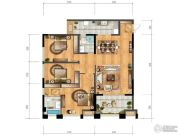 协信城立方2室2厅1卫106平方米户型图