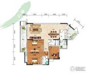 长阳清江山水・最山水3室2厅2卫149平方米户型图