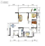 盛美居3室2厅2卫0平方米户型图