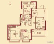 恒大翡翠华庭2室1厅1卫88平方米户型图