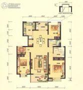 招商海公馆3室2厅2卫131平方米户型图