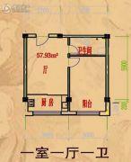 阳光彼岸1室1厅1卫0平方米户型图