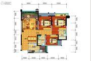 远大中央公园3室2厅2卫98平方米户型图