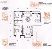 金色时光3室2厅1卫114平方米户型图