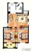 银兰公寓2室2厅1卫85平方米户型图
