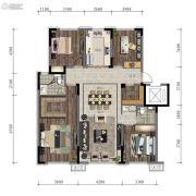 万科时代之光4室2厅2卫125平方米户型图