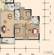 文华豪庭3室2厅2卫112平方米户型图