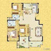正商红河谷3室2厅2卫135平方米户型图