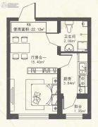 东都・幸福里1室1厅1卫0平方米户型图