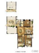 红旗景都3室2厅2卫137平方米户型图