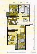 学府雅居3室2厅1卫120平方米户型图