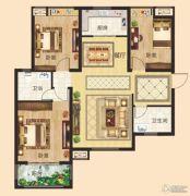 锦江城3室2厅2卫116平方米户型图