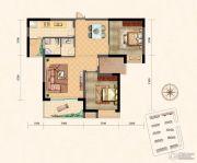凤凰星城2室2厅1卫98平方米户型图