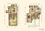 晟鑫康诗丹郡3室2厅2卫148平方米户型图