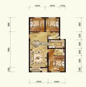 维多利大商城3室2厅2卫137平方米户型图