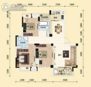 东湖国际城3室2厅2卫117平方米户型图