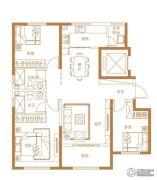 经纬壹�3室2厅2卫120平方米户型图