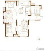 金茂湾3室2厅2卫125平方米户型图