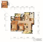 城投地产・智禧湾3室2厅2卫127平方米户型图