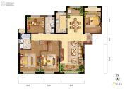 融创天朗珑府4室2厅2卫141平方米户型图