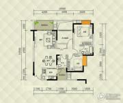 兴茂盛世国际3室0厅2卫87平方米户型图