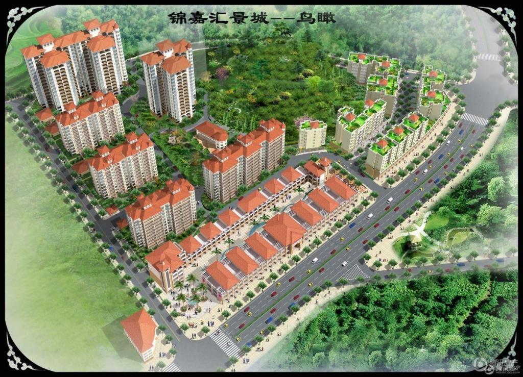 锦嘉汇景城鸟瞰图