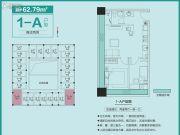 和昌中央悦府・UI空间2室2厅1卫62平方米户型图