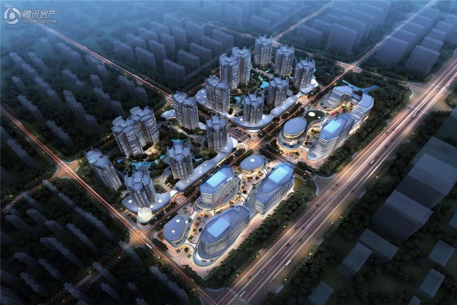 北京城建龙樾熙城鸟瞰夜景