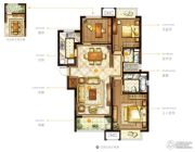 九龙仓时代上城3室2厅2卫118平方米户型图