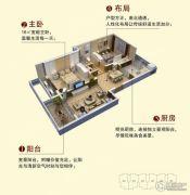 七里香溪 多层3室2厅1卫88平方米户型图