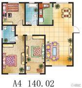 金鼎绿城3室2厅2卫140平方米户型图