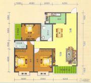 阳光华府3室2厅2卫122平方米户型图