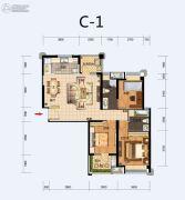 福星惠誉东湖城2室2厅1卫113平方米户型图