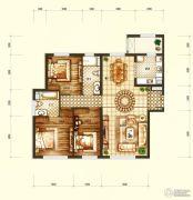 天润・香墅湾1号3室2厅2卫150平方米户型图