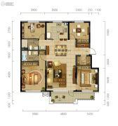 万科城市阳光4室2厅2卫145平方米户型图