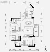 保利华润紫云3室2厅2卫97平方米户型图