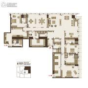 东方之门5室2厅5卫539平方米户型图
