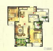 高成天鹅湖2室2厅1卫100平方米户型图