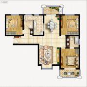 曲江龙邸3室2厅2卫137平方米户型图