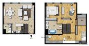 帝景现代城3室2厅2卫70平方米户型图