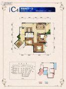 邦泰・国际社区(北区)4室2厅1卫89平方米户型图