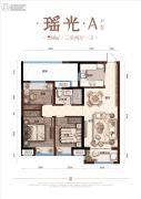 奥园・学府里3室2厅1卫88平方米户型图