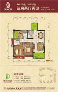 地标・海东广场3室2厅2卫109平方米户型图