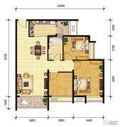 东山雅居2室2厅1卫100--101平方米户型图