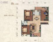 和信北郡3室2厅1卫105平方米户型图