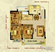钱江绿洲3室2厅1卫118平方米户型图