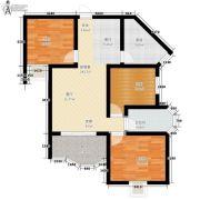 捷恒・悦城3室0厅1卫77平方米户型图